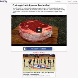 Cooking A Steak Reverse Sear Method