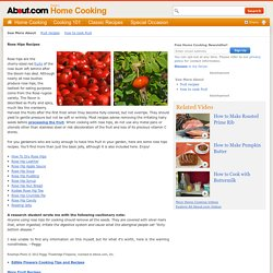 Cooking with Rose Hips - Rose Hips Recipes