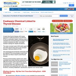 Cookware Chemical Linked to Thyroid Disease