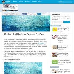 40+ Cool and Useful Ice Textures For Free