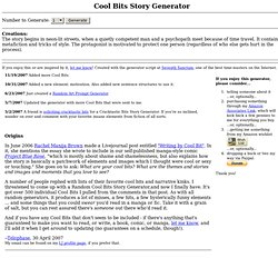 Cool Bits Story Generator