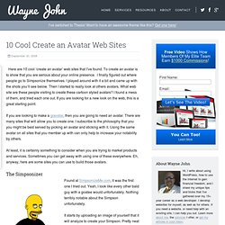 10 Cool Create an Avatar Web Sites