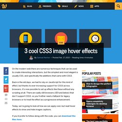 3 cool CSS3 image hover effects