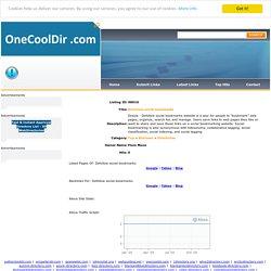 One Cool Dir.com:Dofollow social bookmarks