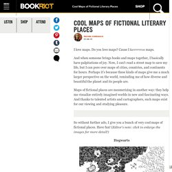 Cool Maps of Fictional Literary Places - Book Recommendations and Reviews