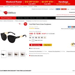 Cool Wide Frame Unisex Sunglasses