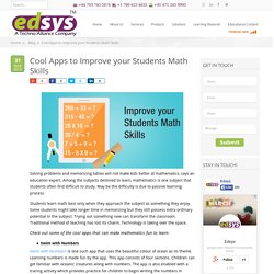 Cool Apps to Improve your Students Math Skills