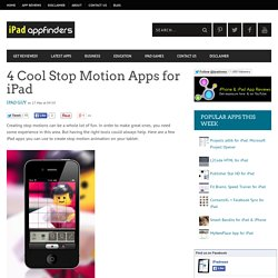4 Cool Stop Motion Apps for iPadiPad App Finders