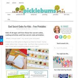 Cool Secret Codes For Kids - Free Printables