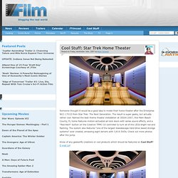 Cool Stuff: Star Trek Home Theater