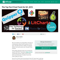 The Top Ten S'Cool Tools for Q1, 2015