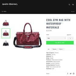 Cool Gym Bag with Waterproof Materials