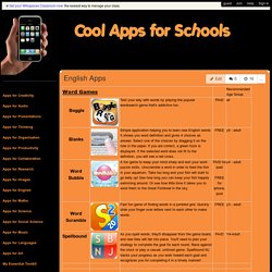 coolappsforschools - English Apps
