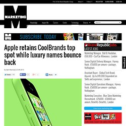 Apple retains CoolBrands top spot while luxury names bounce back