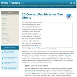 20 Coolest iPad Ideas for Your Library