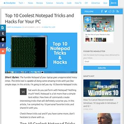 Top 10 Coolest Notepad Tricks and Hacks for Your PC
