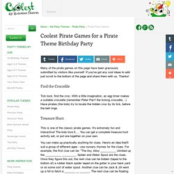 Coolest Pirate Games for a Pirate Theme Birthday Party
