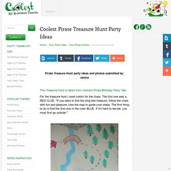 Coolest Pirate Treasure Hunt Party Ideas and Photos