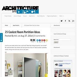 25 Coolest Sala Ideas de partición