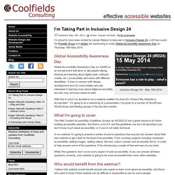 I'm Taking Part in Inclusive Design 24 - Coolfields Consulting