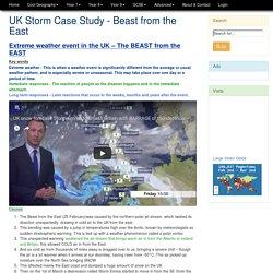olgeography - GCSE - NH - UK Storm Beast