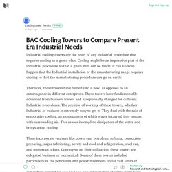 Most Industrial BAC Cooling Towers