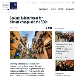 Cooling: hidden threat for climate change and the SDGs