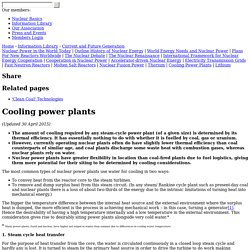 Power Plant Water Use for Cooling