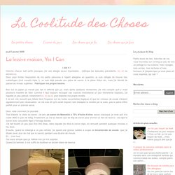 La Coolitude des Choses: La lessive maison, Yes I Can