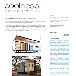 olness: Great Modular Housing Idea | South Africa