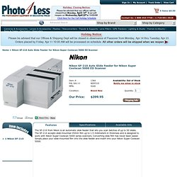 Nikon SF-210 Auto Slide Feeder for Nikon Super Coolscan 5000 ED Scanner | Electronics | Nikon 9240 @ Photo 4 Less