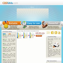 Audio, Image, HTML, PDF file converters and other software by CoolUtils