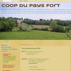 Coop du Pays Fort : Nos producteurs Bio