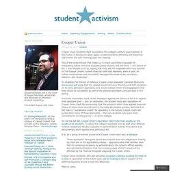 student activism: Cooper Union «