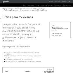 MEXICO - Agencia Mexicana de Cooperación Internacional para el Desarrollo