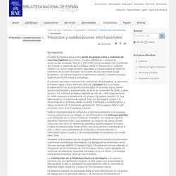 Cooperación internacional - Europeana. Biblioteca Nacional de España