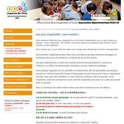 Les jeux coopératifs « sans contact » - Office Central de la Coopération à l'École du Nord