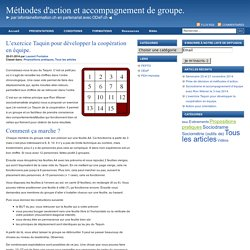 L'exercice Taquin pour développer la coopération en équipe. : Méthodes d'action et accompagnement de groupe.