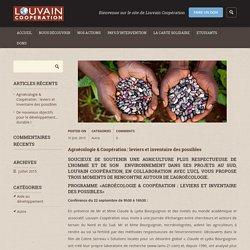 Agroécologie & Coopération : leviers et inventaire des possibles