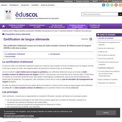 Coopération franco-allemande - Certification d'allemand