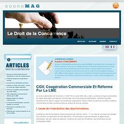 CGV, coopération commerciale et réforme par la LME