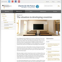 Federal Ministry for Economic Cooperation and Development - Background - The situation in developing countries