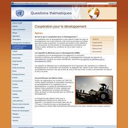 Coopération pour le développement - Questions thématiques - Nations Unies