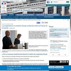 La coopération en matière fiscale renforcée entre la France et la Suisse