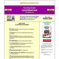 Cooperation - Lesson Plans - Elementary - Character Education)