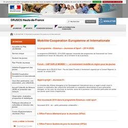 Mobilité/Coopération Européenne et Internationale - DRJSCS Hauts-de-France