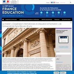 Le master « Coopération internationale en éducation et formation » de l'Université de Paris fête ses 20 ans