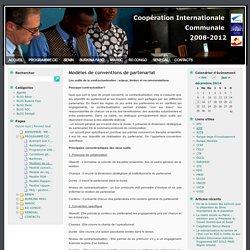 Coopération Internationale Communale 2008-2012 » Modèles de conventions de partenariat