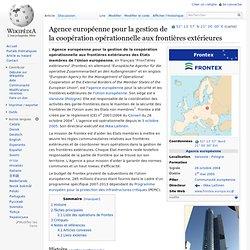 Agence européenne pour la gestion de la coopération opérationnelle aux frontières extérieures