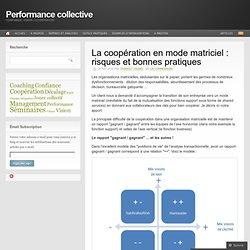 La coopération en mode matriciel : risques et bonnes pratiques